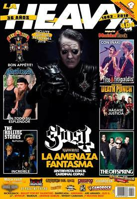 La Heavy Spanish Magazine 404 + 4 Posters - June 2018 - GHOST - CARDINAL COPIA