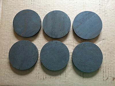 (6)pcs. 1/2 Inch X 3 19/32 Inch Round/Disc Steel Plates A36 Grade