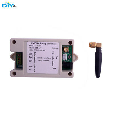 1 Channel Relay Module SIM800C SMS GSM Remote Control Switch 2G Network +Case