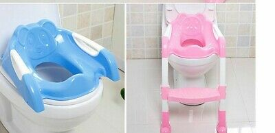 Baby Toddler Potty Training Toilet Ladder Seat Steps Non-Slip Solid Grip