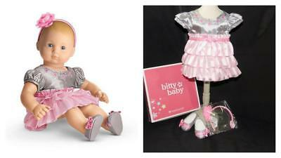 American Girl Bitty Baby Twirly Tiered Outfit For Dolls  - Nib