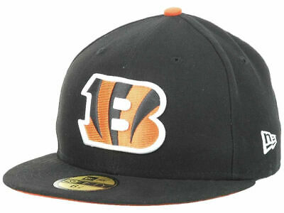 sports shoes ae8c5 649aa Cincinnati Bengals New Era NFL On Field 59FIFTY Cap Black Fitted Hat Size 7  1