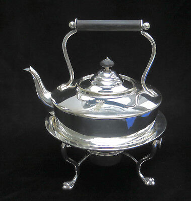 Antique Hukin & Heath Victorian Hot Water Kettle on Stand with Warmer