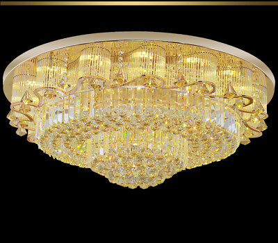 K9 Crystal Ceiling Lamp Fixtures Modern Round Chandeliers Led Light