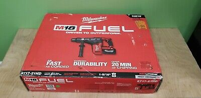 Milwaukee 18-Volt FUEL 2717-21HD Cordless 1-9/16 in. SDS-Max Rotary Hammer Set