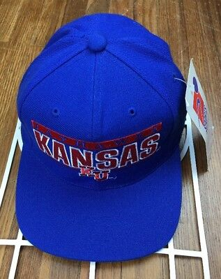 best loved 69c47 33b2b ... norway vtg sports specialties kansas jayhawks snapback hat large logo  script ncaa cap 75bac b5155