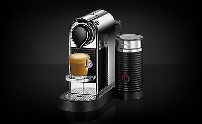 PAY$242* NEW Nespresso Breville CitiZ & Milk Capsule Coffee CHROME SILVER BEC650