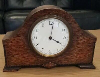 Vintage French inlaid Mahogany case Mantle Clock