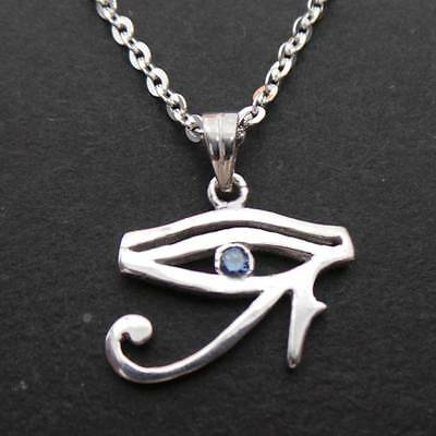 Handmade 925 Sterling Silver Egyptian Ring with Eye of Horus Ring Size US 4 - 14