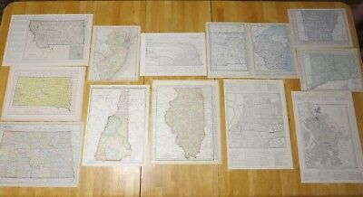 Lot of 13 Antique Maps 1891-1945