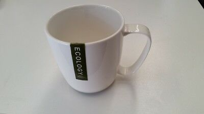 NEW Ecology Coffee Mug 320ml White Set of 6 CLEARANCE BELOW COST!