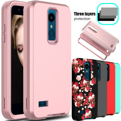 For LG K30 / Xpression Plus Phone Case Shockproof Rubber Hybrid Hard Armor Cover