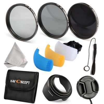 NEW - AUS STOCK - 55MM ND2 + ND4 + ND8 + Accessories Filter Kit Set + Lens Pen