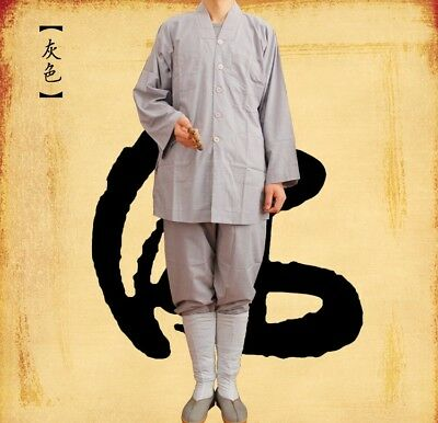 Shaolin Monk Kung Fu Tai Chi Sets Uniform Buddhist Meditation Farming Suit Soft