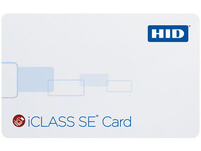 HID 3000HSEC iCLASS Credential  - 10/100/500/1000 Cards