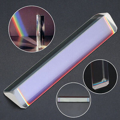 Optical Glass Physics Experiment Triple Triangular Prism Refractor 80-91mm