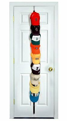 Bon Baseball Cap Closet Rack Hanger Organizer Fits 36 Over Door Hat Holder Coat  Hook