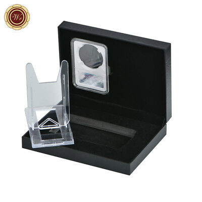 WR Coin Medals Slab Holder Case Display Stand /w Coin Collectors Present Box Top