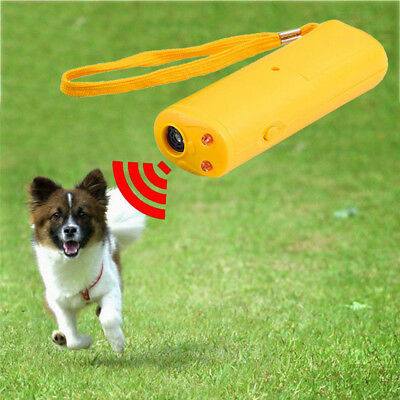 3 in 1 Ultrasonic Aggressive Dog Pet Repeller Training Anti Barking Safe Device