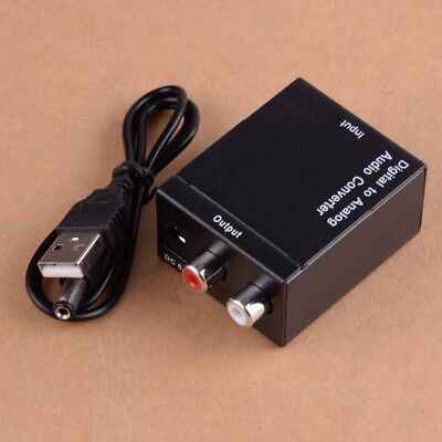 L/R RCA Audio Converter Adapter Digital to Analogue Toslink Coaxial Optical