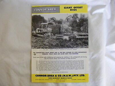 CONNOR SHEA ... Giant Offset Disc .. Farm Machinery Manufacturers Sales Brochure