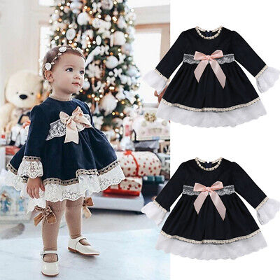 Toddler Baby Kids Girls Summer Lace Dress Party Pageant Princess Dresses Clothes