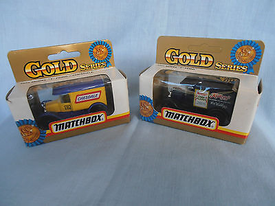 TWO Matchbox 1/43 Die-cast  Ford Model 'T' vans Chesdale and Kellogg's in Boxes