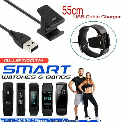 USB Cable Charger Lead Charging for Fitbit CHARGE 2 Fitness Tracker Wristband UK