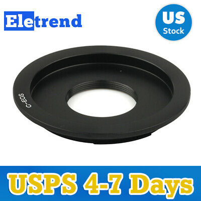 C mount Lens to Canon EOS M EF-M Mirrorless Camera Body Adapter Ring US SHIP
