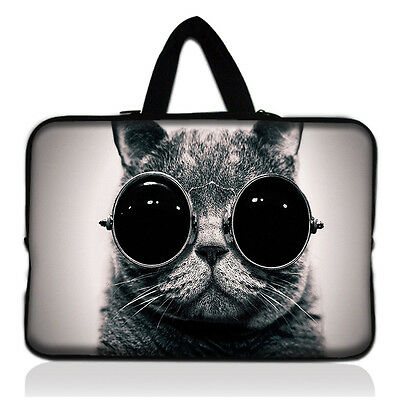 """15.6"""" Cat Laptop Sleeve Case Bag for TOSHIBA Sony HP Asus Lenovo Acer MSI Dell"""