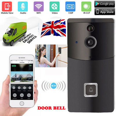 【Upgrade】Smart Wifi Doorbell IR Wireless Remote Video Camera Phone Door Security