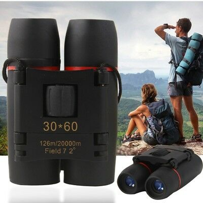 30 x 60 Zoom Mini Compact Binoculars Folding Telescope Day Night Outdoor Travel