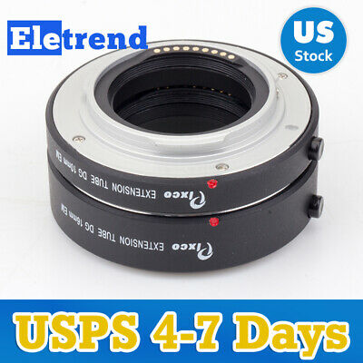 US Auto Focus AF Macro Extension Tube Ring 10mm16mm Set For Canon EOS M M10