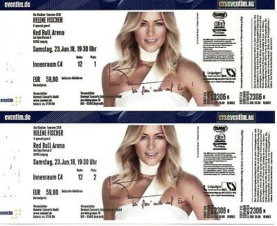 2 tickets helene fischer stadion tournee 2018 23 juni. Black Bedroom Furniture Sets. Home Design Ideas