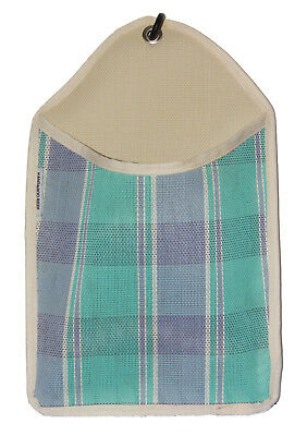 Laundry Clothes Peg Bag - BLUE VIOLET Checked UV, Weather and Mould Resistant