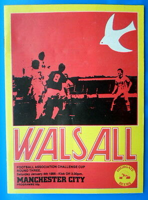 Walsall v Manchester City      FA Cup 3rd round   4-1-1986