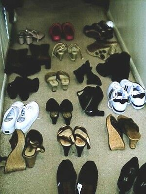 Gorgeous Shoe/boot Grab Lot-Sz 6-7 Fun! Like Xmas All Over!- Bargains Galore.
