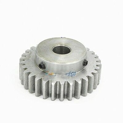 1.5Mod 30T Spur Gear 45# Steel Motor Gear Tooth Outer Dia 48mm Bore 8mm x 1Pcs