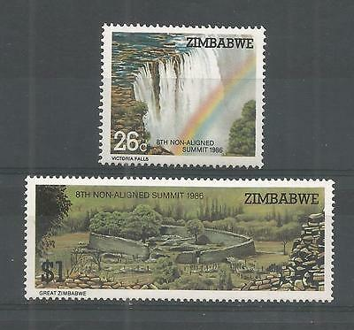 Zimbabwe 1986 8Th Non-Aligned Summit Sg,698-699 Un/mm Nh Lot 872A