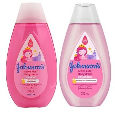 200ml Johnson kids baby mild shampoo conditioner for shiny, silky and soft hair