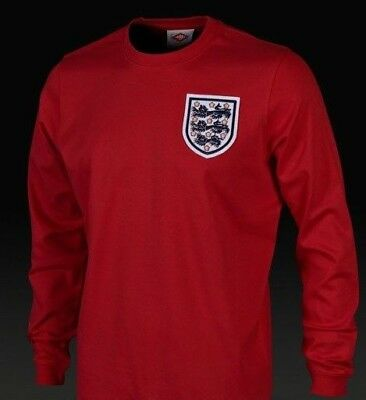 e405c9c182c England 1966 World Cup Shirt Geoff Hurst No 10 Red L/S Jersey UK Small