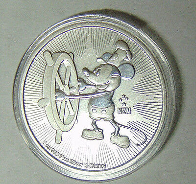 Walt Disney Mickey Mouse Steamboat Willie .999 Silver 1 oz 2017 Niue (61018)