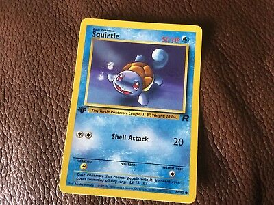 POKEMON RARE 1st EDITION SQUIRTLE CARD COLLECTORS VGC UNPLAYED 68/82