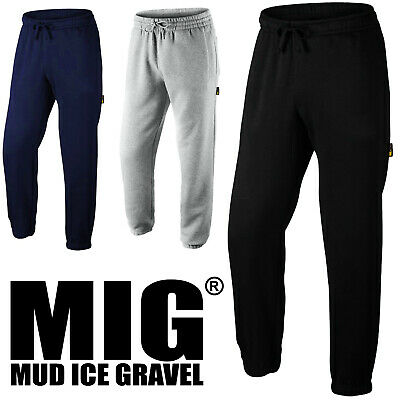 MIG Mens Work Tracksuit Bottoms with Zip Pockets - Fleece Joggers MJB-022