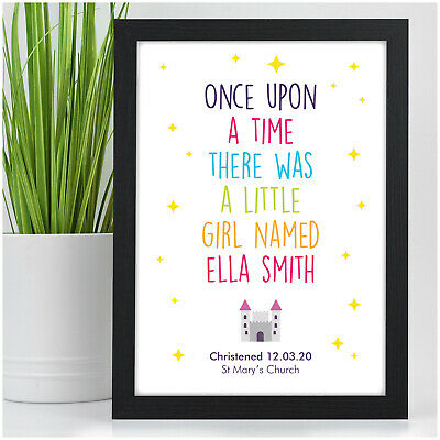 Christening Gifts for Girls Goddaughter Personalised Nursery Wall Art for Girls
