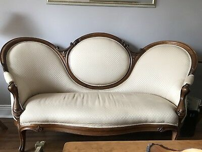 Antique Thumbprint Settee