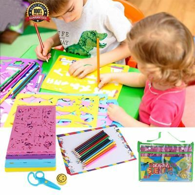 Multi-Purpose Plastic Painting Template Hollow Ruler Kids Paint Drawing Stencils
