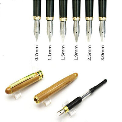 Parallel Calligraphy Fountain Pen Gothic Arabic Italic 0.7/1.5/1.9/2.5/2.9mm New