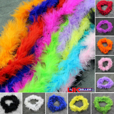 2 Meters Colorful Feather Boa Marabou For Burlesque Fancy Dress Party Boas UK