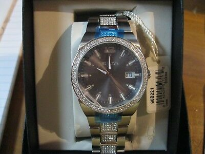 Bulova Men's 96B221 Crystal Gray Dial Silver Tone Stainless Steel Watch
